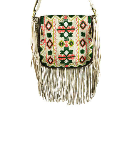 Stella Beaded Fringe Crossbody
