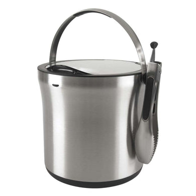 Steel Ice Bucket & Tong Set