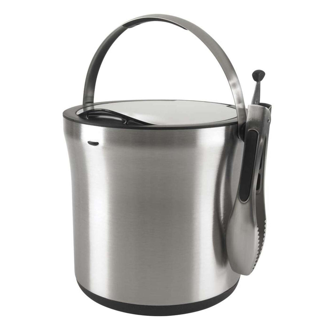 Steel Ice Bucket & Tong Set - Gift Tree