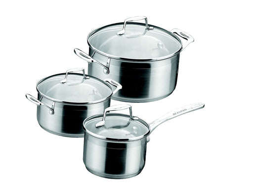 Impact 6 Piece Stainless Steel Cookware Set - Gift Tree