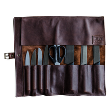 Leather Knife Roll Bag - Gift Tree