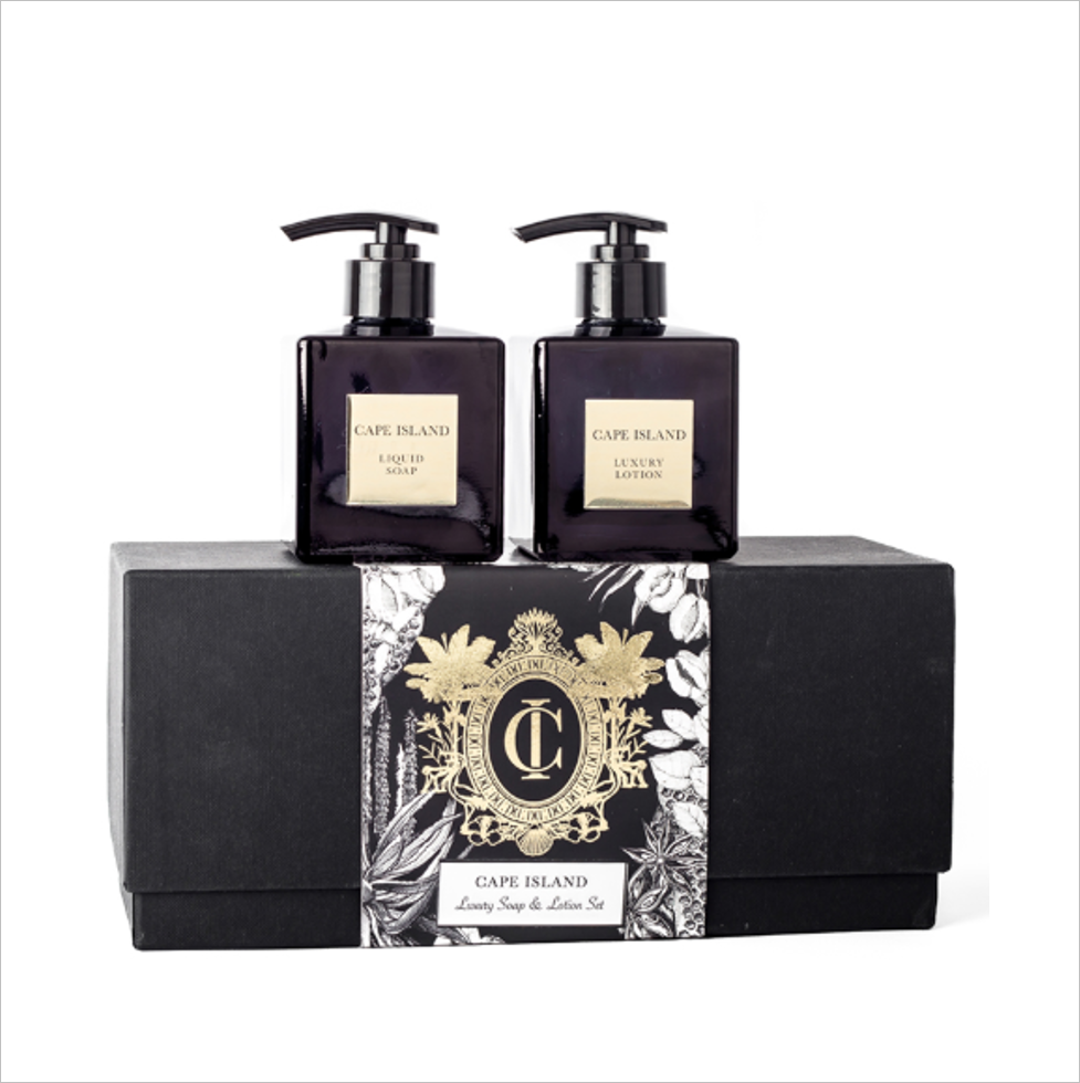 Black Gold Soap & Lotion Boxed Set