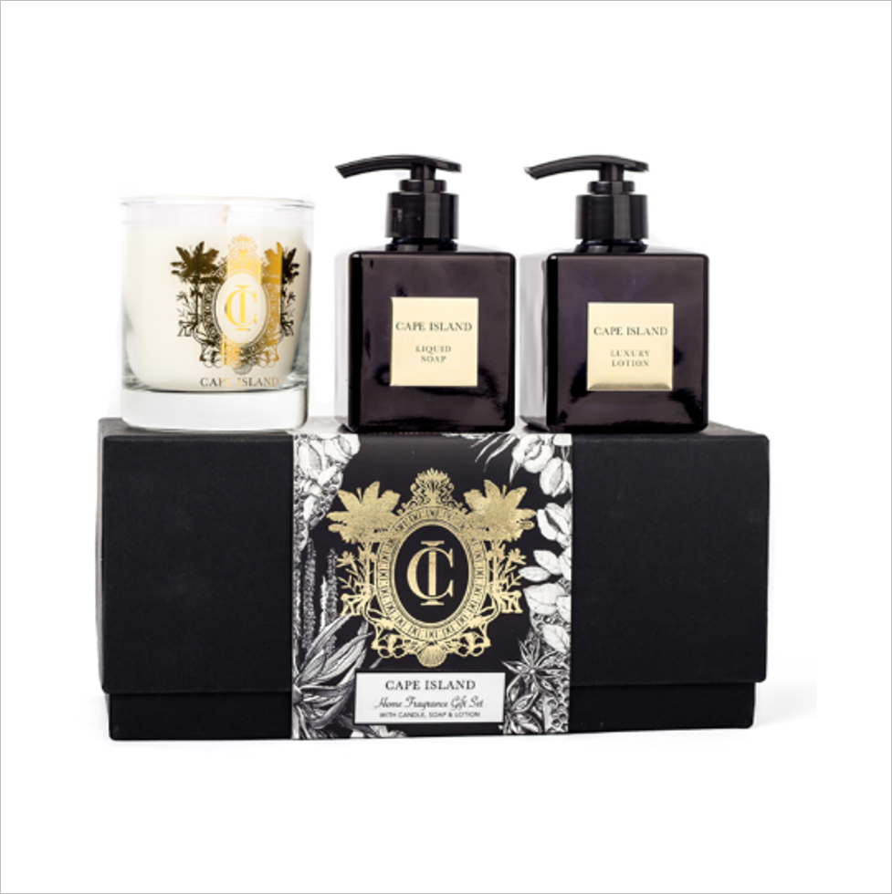 Black Gold Soap, Lotion & Candle Boxed Set