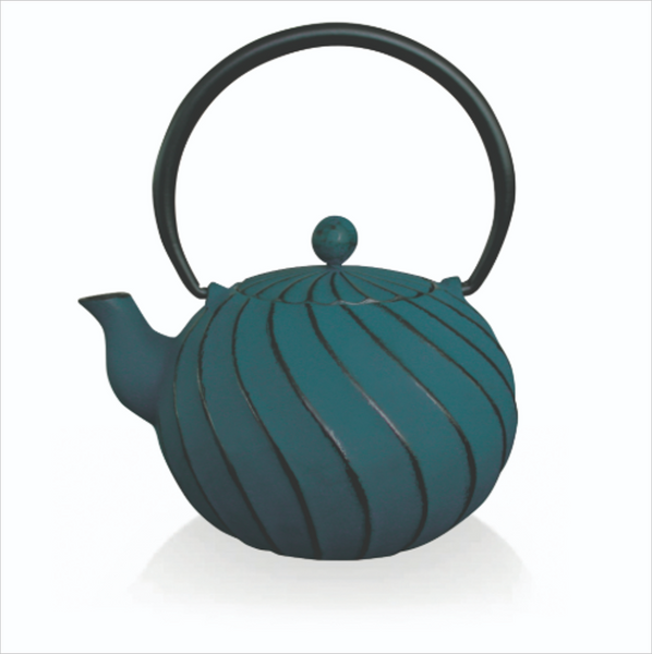 Song 14cm Cast Iron Tea Kettle - Blue