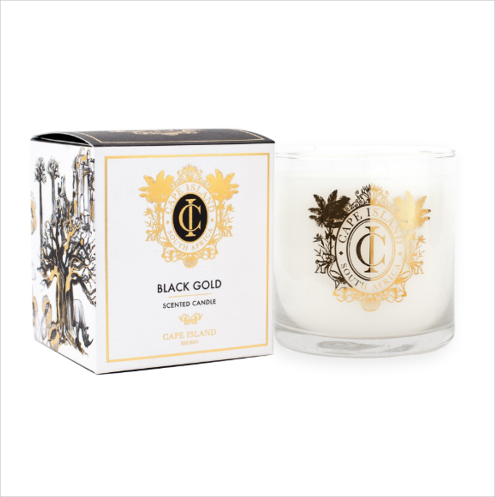 Black Gold Large Candle