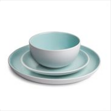 Stoneware Dinner Set - Duck Egg Blue