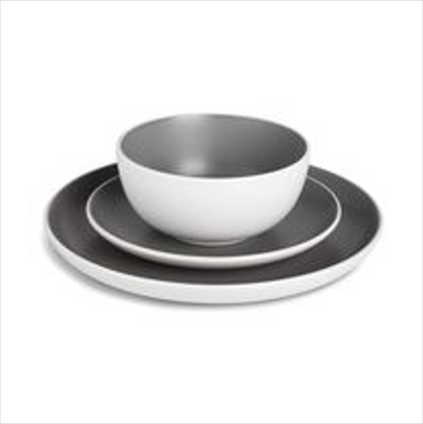 Stoneware Dinner Set - Charcoal
