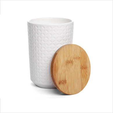 Textured Canister - Jewel White