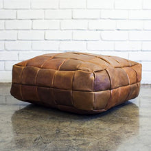 Leather Patchwork Pouffe - Gift Tree
