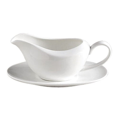 Fine Bone China Gravy Boat & Saucer - Gift Tree