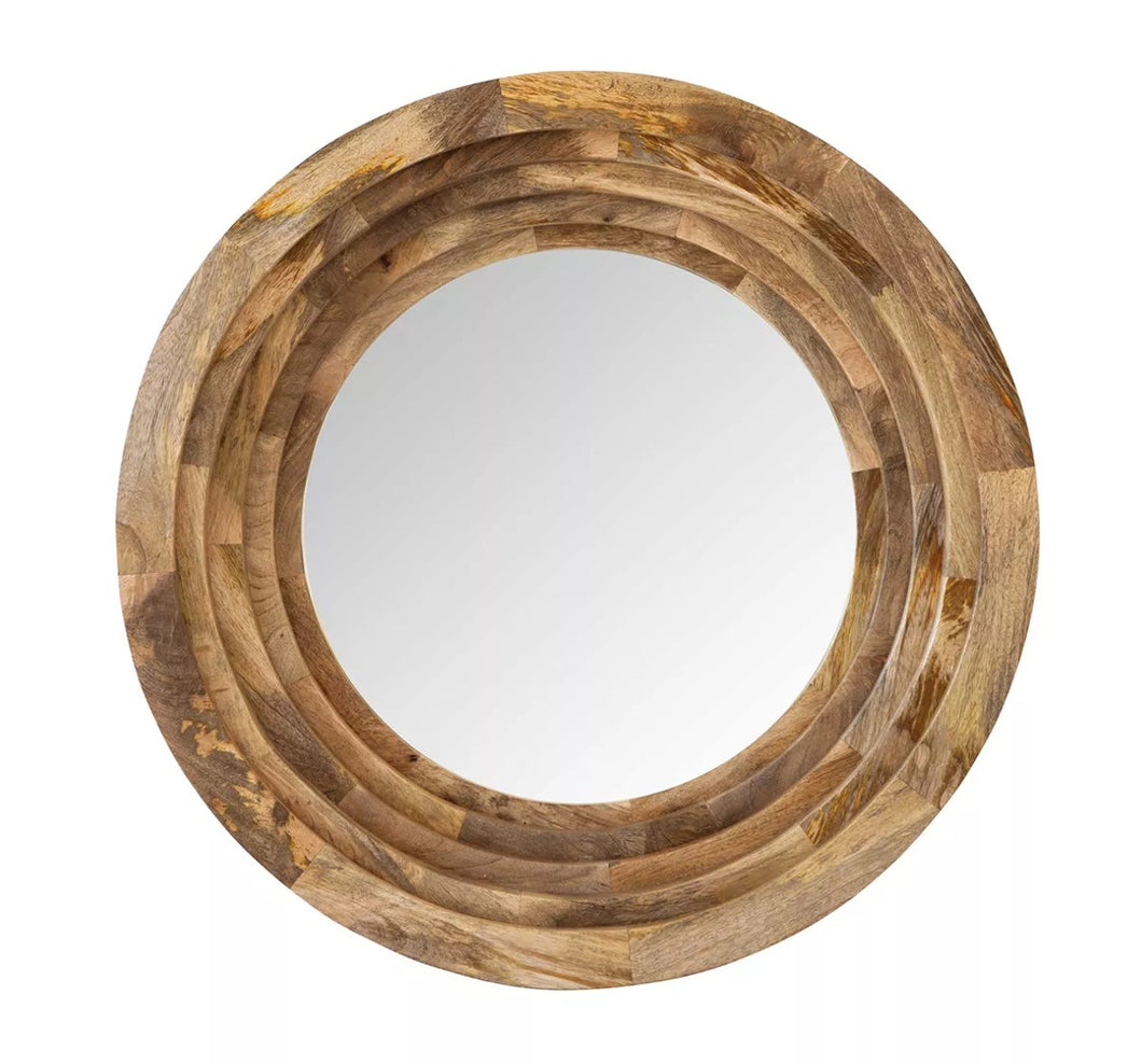 Ring Wood Mirror - Gift Tree