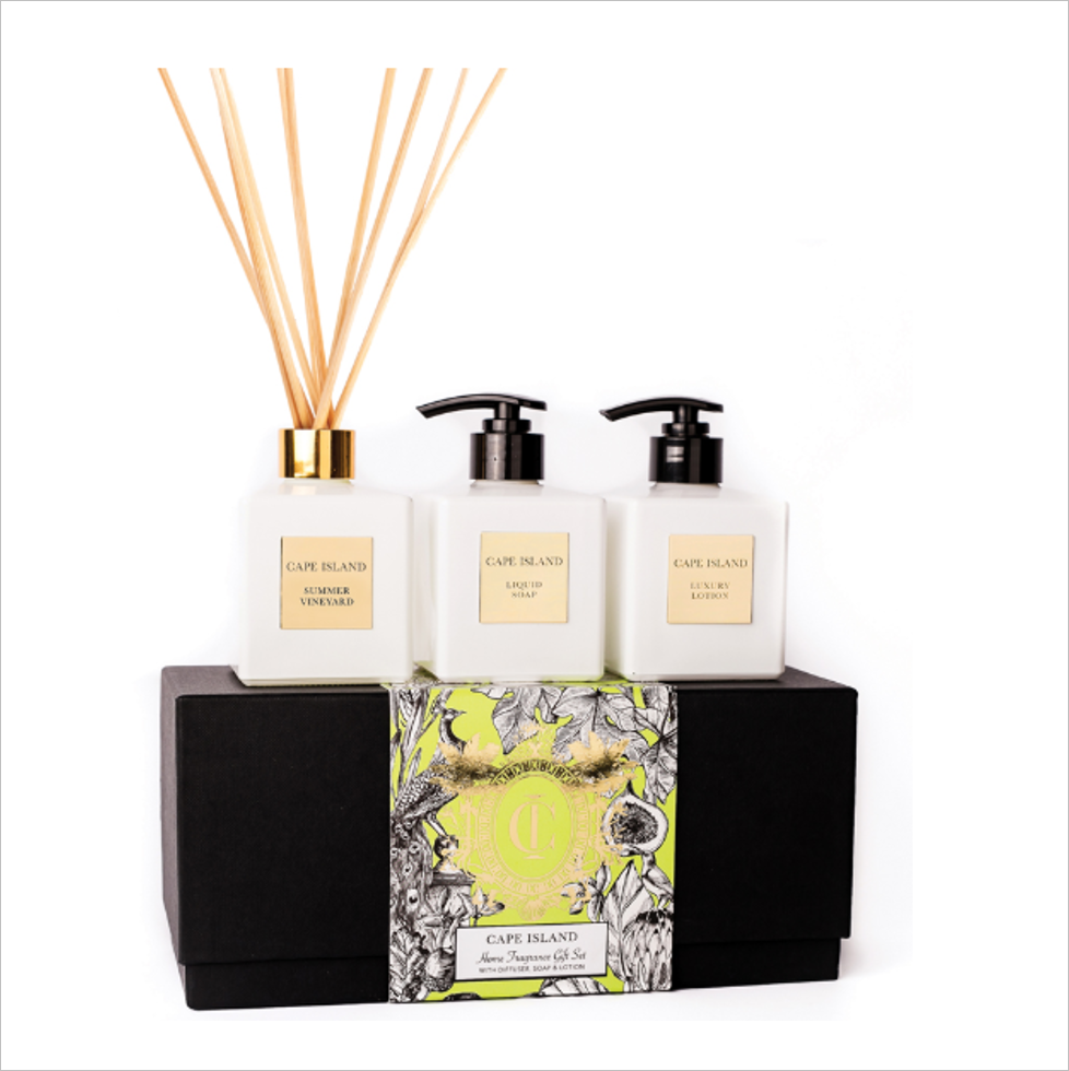 Summer Vineyard Soap, Lotion & Diffuser Boxed Set