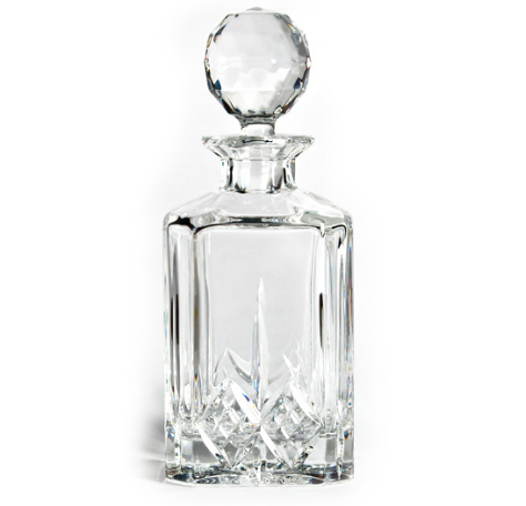 Bohemia Square Crystal Decanter - Gift Tree
