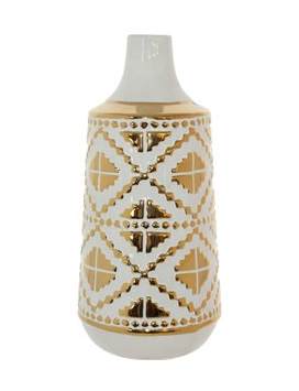 Navaho White/Gold Vase - Gift Tree