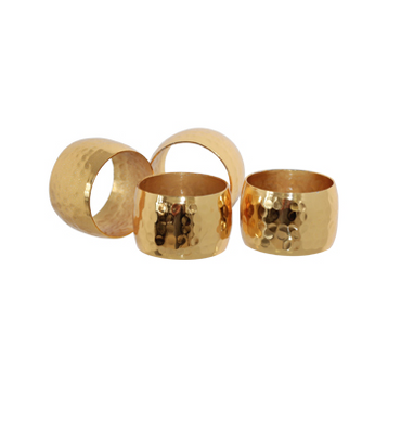 Hammered Napkin Ring Set - Gift Tree