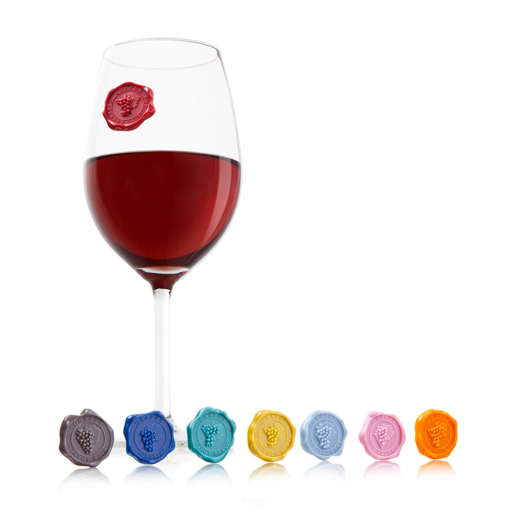 Classic Wine Glass Markers, Set of 8 - Gift Tree
