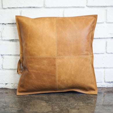 Leather Throw Pillow - Gift Tree