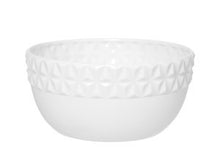 White Geometric Serving Bowl - Gift Tree