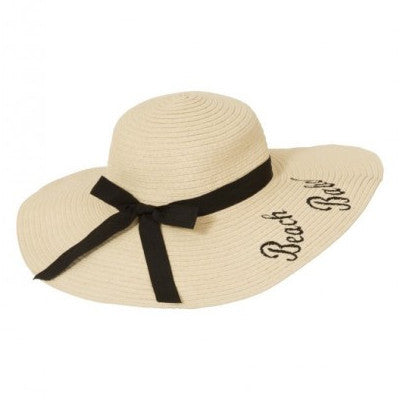 Medium Brim Beach Babe Hat with Ribbon