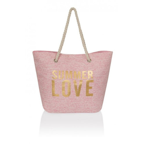 Pink Summer Love Beach Bag