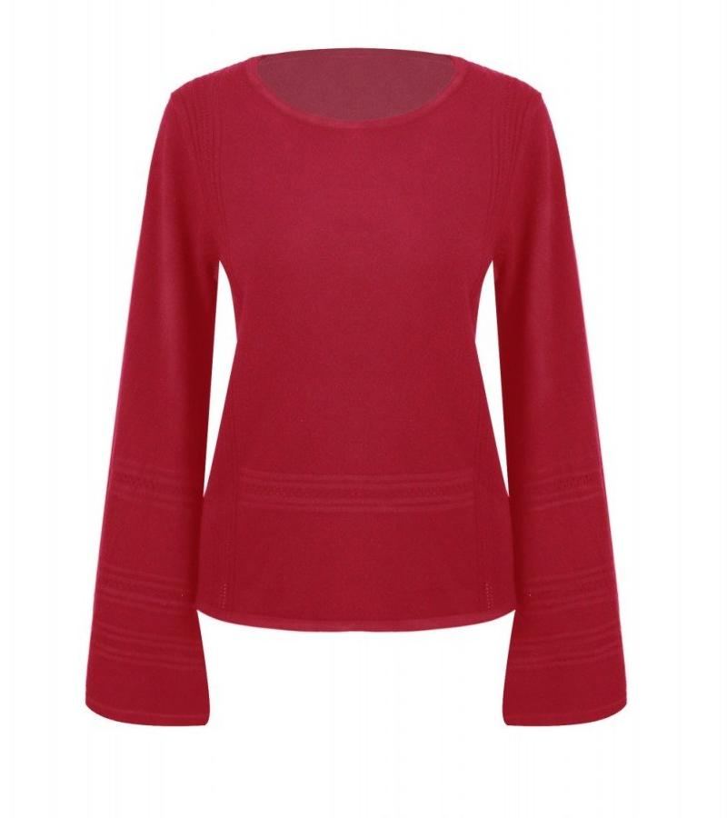 Long Sleeve Bordeaux Flare Sweater