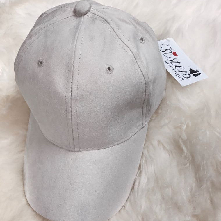 Stone Faux Suede Baseball Cap