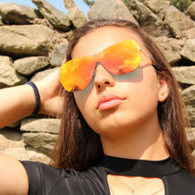 Designer Inspired Mirrored Sunglasses Orange