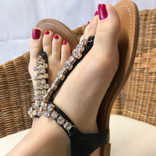 Embellished Flat Sandals Black