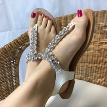 Embellished Flat Sandals White