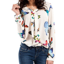 Cream Butterfly Blouse