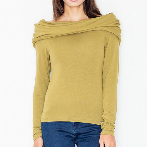 Bardot Green Long Sleeve Top