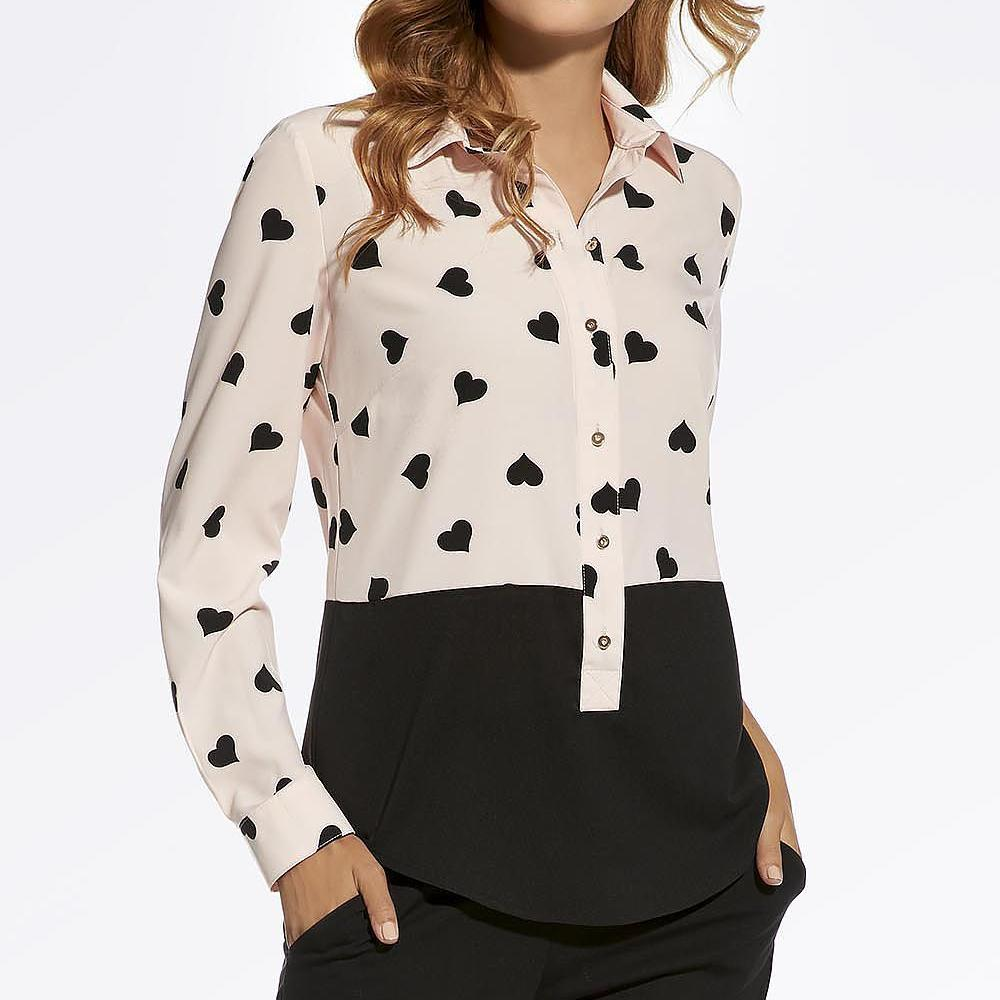 Black and Pink Heart Blouse