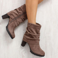 Brown Mid Heel Boots