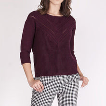 Bordeaux 3/4 Sleeve Sweater
