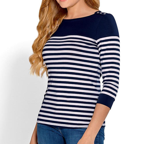 Navy / White Striped Sweater