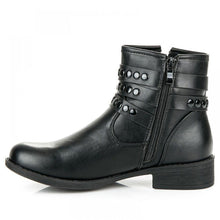 Black Flat Ankle Boots