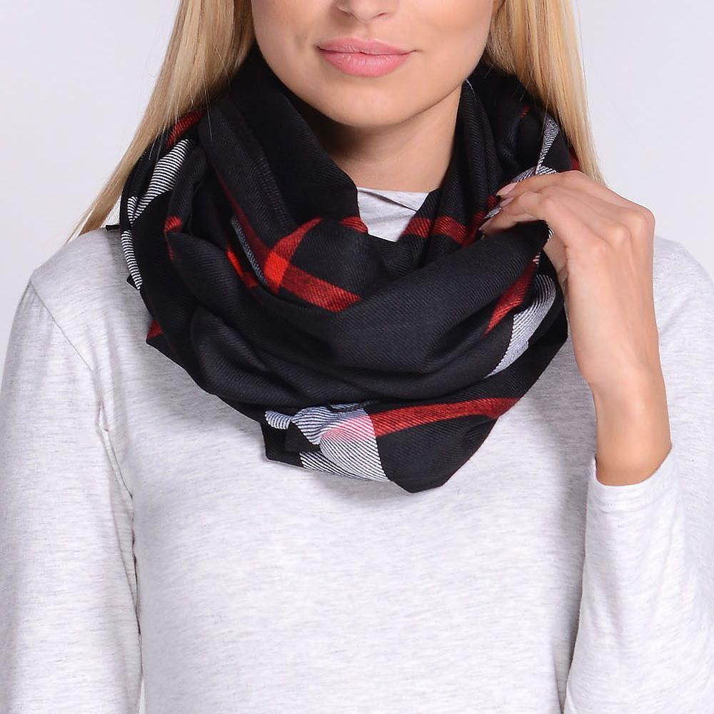 Checkered Black Scarf