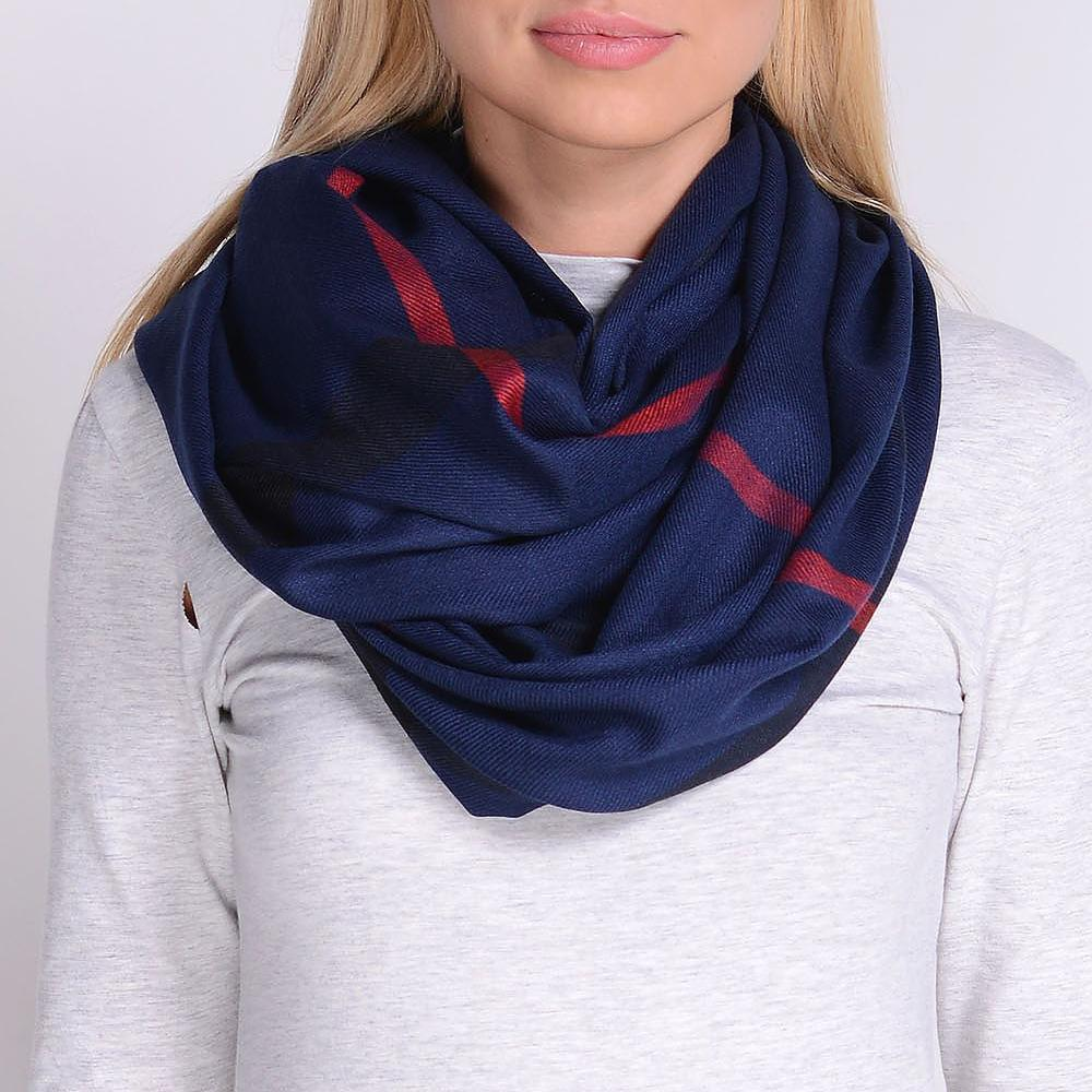 Checkered Navy Scarf
