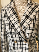 Black and Off-white  Checked Blazer