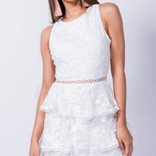Lace Tiered Detail Shift Dress