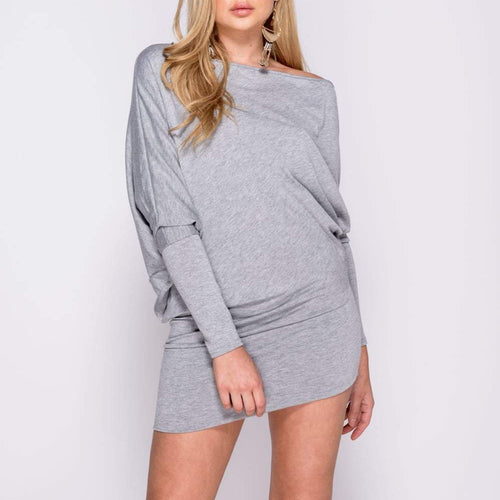 Batwing Sleek Mini Dress
