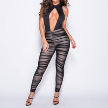 Ruched Mesh Trouser