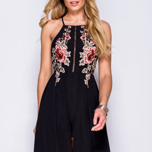 Strappy Flower Patch Detail Long Skort Playsuit