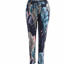 Blue Palm Print Trousers