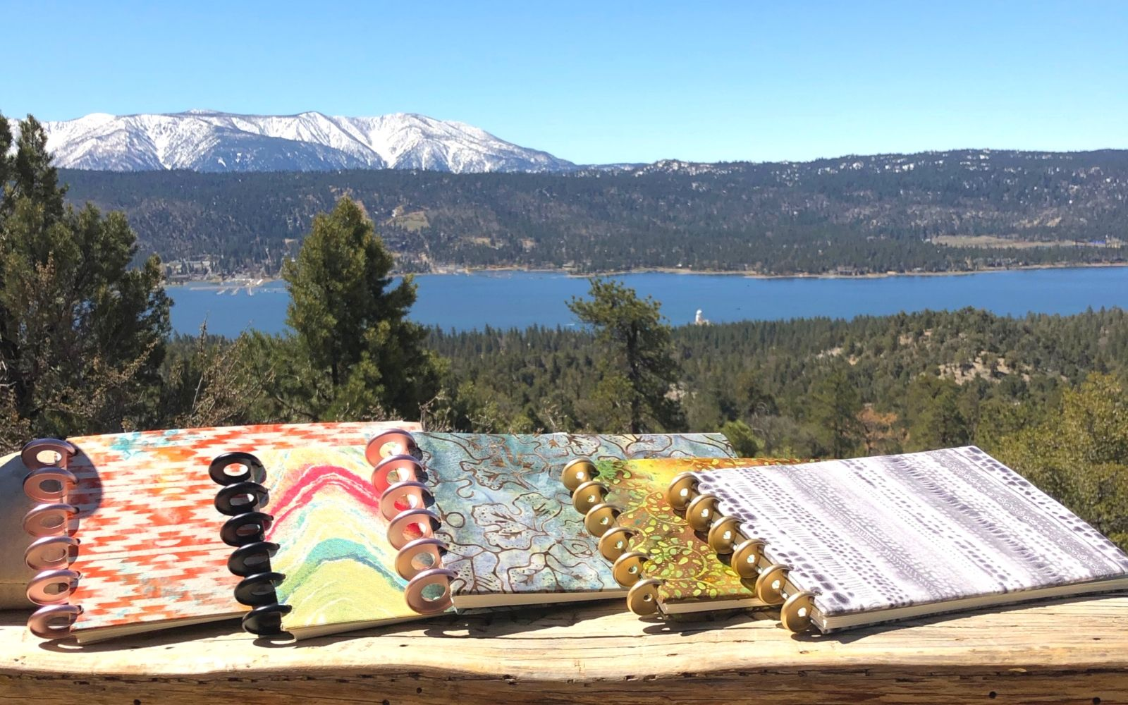 Wild Plein Adventurers Watercolor Journals Overlooking Big Bear