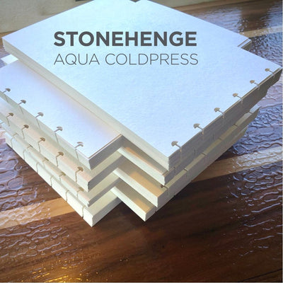 Stonehenge Aqua 24 Sheet Paper Stacked Punched
