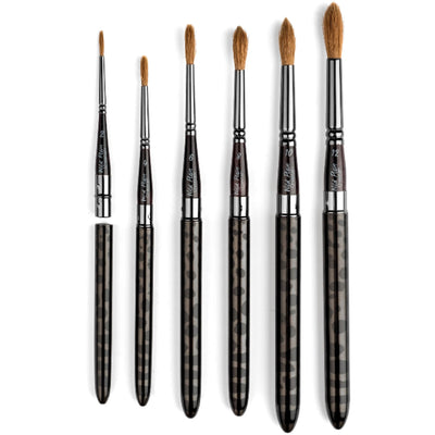 Wild Plein Kolinsky Sable Blend Watercolor Travel Brush Set - Wild Plein