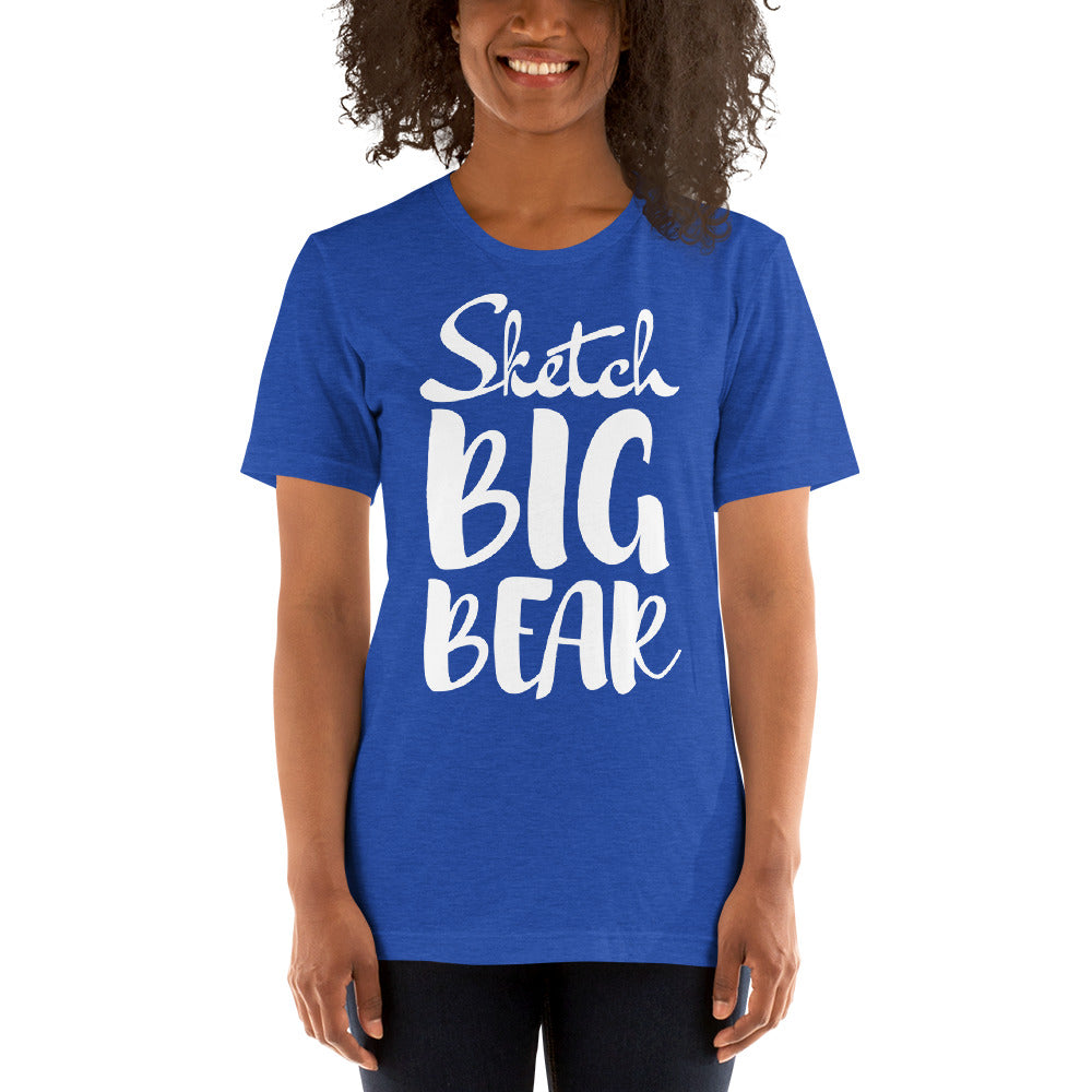 Sketch Big Bear Short-Sleeve Unisex T-Shirt (Female Model) - Wild Plein