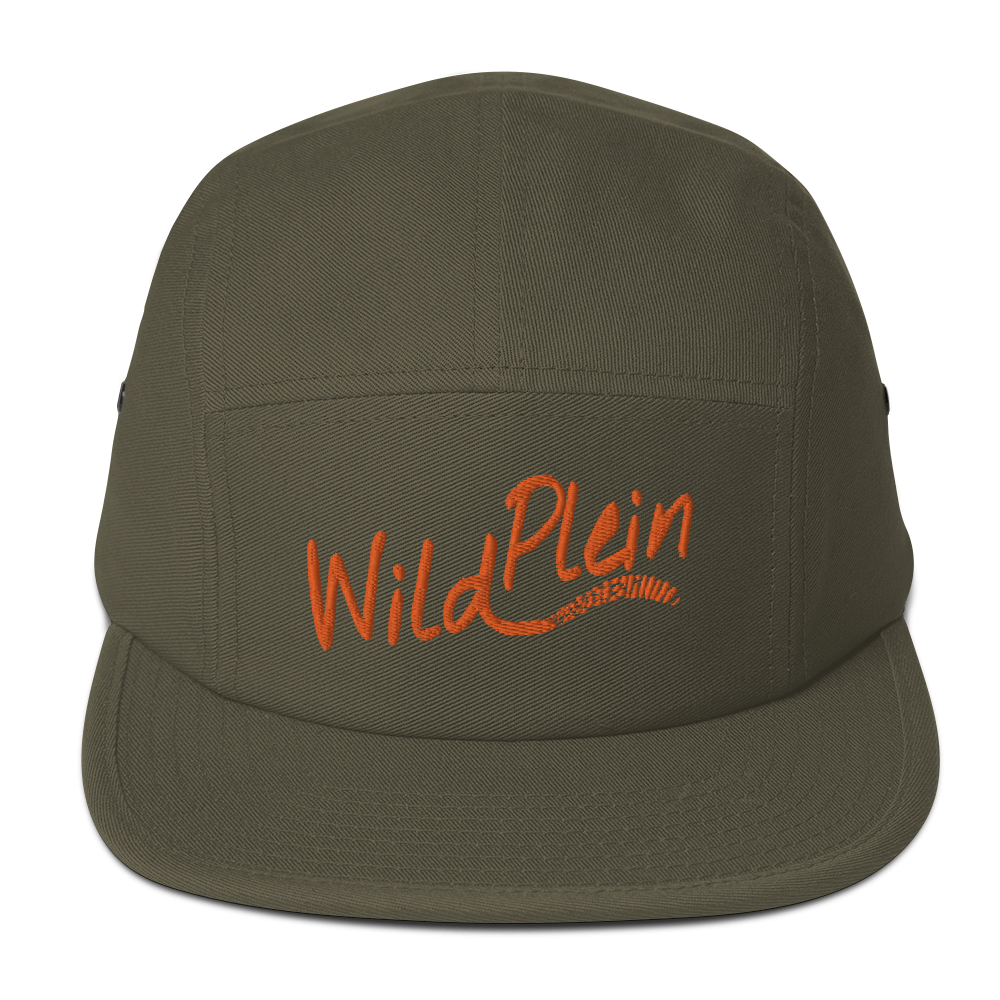 Wild Plein Five Panel Cap - (Olive & Orange) - Wild Plein