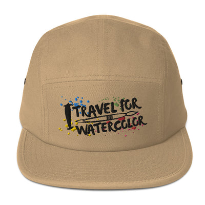 I Travel For Watercolor - Embroidered - Five Panel Cap (5-Color) - Wild Plein